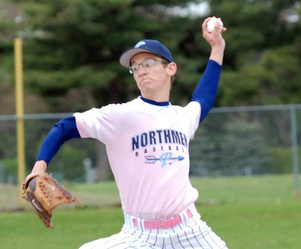 Northman pitcher Kenny Gray delivers to the plate Saturday during the Carol Hansen Memorial Invitational at Turcott Field.