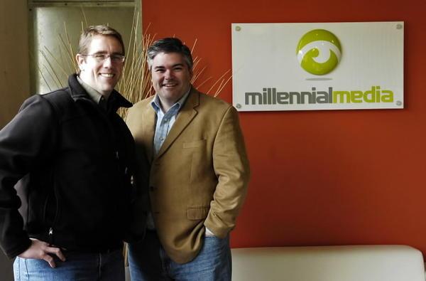 Millennial Media cofounders, Chris Brandenburg (left) and Paul Palmieri