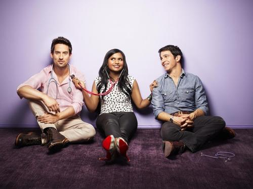 "<b>Who's in it? </b> Ed Weeks as Jeremy (from left), Mindy Kaling as Mindy and Chris Messina as Danny. Anna Camp, Dana DeLorenzo and Zoe Jarman also star. <br><b>What it's about: </b> Despite having a successful career as an OB/GYN and the ability to quote every line from every Meg Ryan romcom, Mindy Lahiri can't seem to find love. She wants to break bad habits and become a better person, so can meet and date the perfect guy. Is this gal Bridget Jones or what? <br><b>How long before I bail? </b> Emmy-winning writer and ""The Office"" star Kaling can bring the funny, so I'm guessing I'll stick with this office comedy."