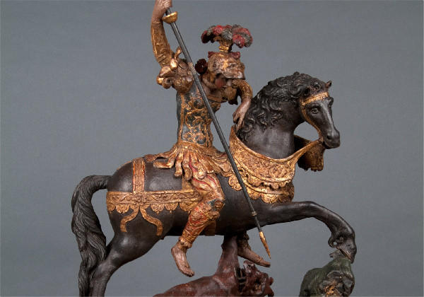 """St. George and the Dragon,"" a 16th century sculpture attributed to Giovan Angelo del Maino."