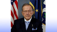 The late Senator Ted Stevens joins other inductees including sprinter Gail Devers, softball player Lisa Fernandez and swimmer Gary Hall Junior in the Olympic Hall of Fame, class of 2012.