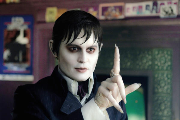 "In this film image released by Warner Bros., Johnny Depp portrays Barnabas Collins in a scene from ""Dark Shadows."""