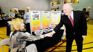 U.S. Sen. Benjamin L. Cardin, D-Md., encouraged people to enter the health care field Monday during a Health Care Career Expo at Hagerstown Community College.