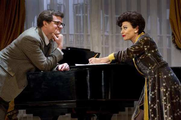 "Michael Cumpsty and Tracie Bennett in ""End of the Rainbow"" at the Belasco Theatre in New York."