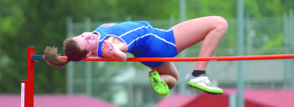 Mercer County senior Tayler Lowe has stress fractures in both feet and has been on crutches much of the season, but she still ranks as one of the favorites to win the Class AA state high jump title Friday in Louisville.