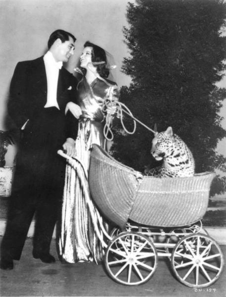 Katharine Hepburn (Connecticut native), Cary Grant and Baby makes three in this 1938 screwball comedy about an absentminded professor, an heiress (from Connecticut) and, well, a leopard named Baby.