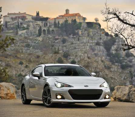 The all-new 2013 Subaru BRZ is a rear-wheel-drive sports car that starts at $26,265. A BRZ with the standard six-speed manual transmission weighs about the same as a Toyota Corolla -- a bit under 2,800 pounds. Add 50 more pounds for the optional six-speed automatic. The extensive use of high-strength steel and an aluminum hood helped keep the weight down.