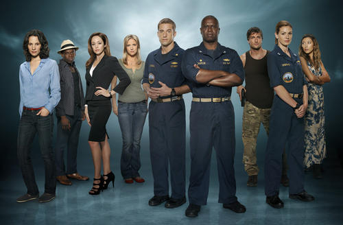 <b> Who's in it?</b> Camille De Pazzis as Sophie Gerard (from left), Sahr Ngaujah as Mayor Julian Serrat, Autumn Reeser as Kylie Sinclair, Jessy Schram as Christine Kendal, Scott Speedman as XO Sam Kendal, Andre Braugher as Capt. Marcus Chaplin, Daniel Lissing as SEAL Officer James King, Daisy Betts as Lt. Grace Shepard, Dichen Lachman as Tani Tumrenjack.