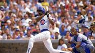 "1987: Andre ""The Hawk"" Dawson at the plate"