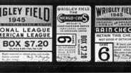 1945: A ticket to 1945 World Series at Wrigley