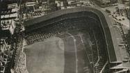 1938: An aerial view of Wrigley