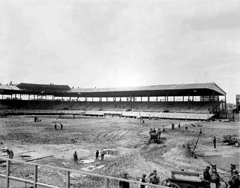 Vintage photos capture Wrigley Field moments in time: 1914: Construction of then-Weeghman Park