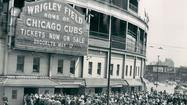 1949: Fans line up outside Wrigley