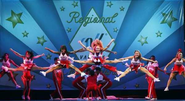 "A scene from the musical ""Bring It On"" at the Ahmanson Theatre in 2011."