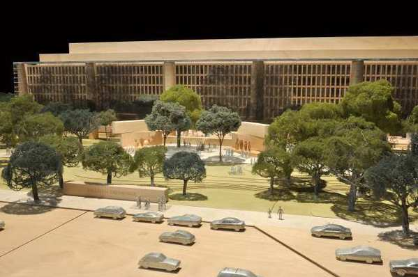The proposed Dwight D. Eisenhower Memorial, designed by Frank Gehry.