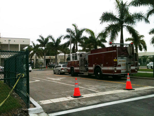 First responders at McArthur High School