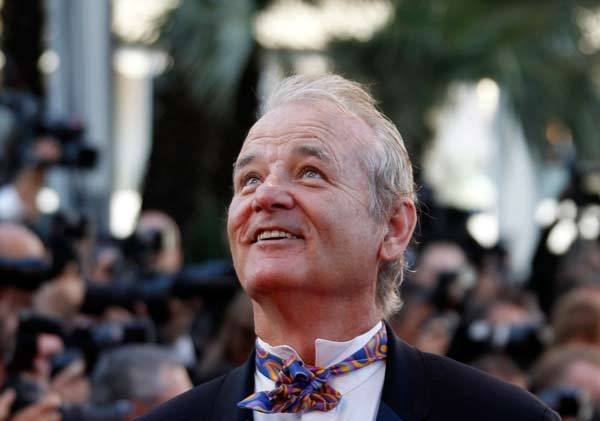 "Cast member Bill Murray arrives on the red carpet for the screening of the film ""Moonrise Kingdom"" by director Wes Anderson in competition at the 65th Cannes Film Festival."