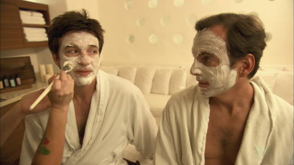 "Jason Bateman and Will Arnett in ""Mansome.:"