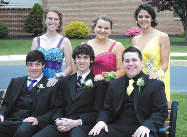 Shalom Christian Academy juniors who attended the senior appreciation banquet April 28 are, from left, Alex Crilley with Lydia Tissue (Hagerstown); Jeffrey McCracken with Abigail Crider; and Matthew Wenger with Alyssa Martin.