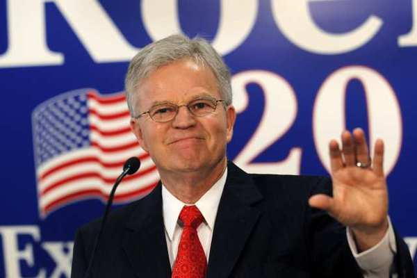 Former Louisiana Gov. Buddy Roemer, a Democrat turned Republican, gestures during a news conference in Baton Rouge, La. A group clearing the path for an independent White House bid on Tuesday canceled the first phase of its search for a bipartisan ticket because declared and draft candidates aren't mustering enough preliminary support.