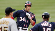 Adam LaRoche broke open a tight game with a three-run double for his 1,000th career hit after homering for No. 999, and Gio Gonzalez took over the NL strikeout lead from teammate Stephen Strasburg by fanning 10 in seven innings Wednesday night, leading the Washington Nationals past the Pittsburgh Pirates 7-4.