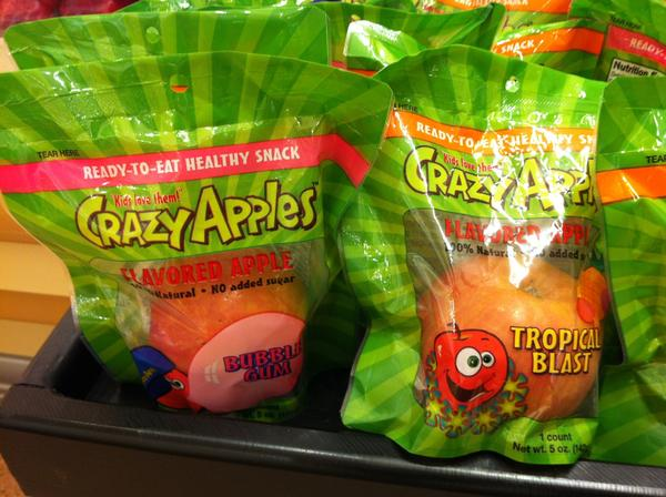 Crazy Apples come in such flavors as bubble gum and tropical blast.