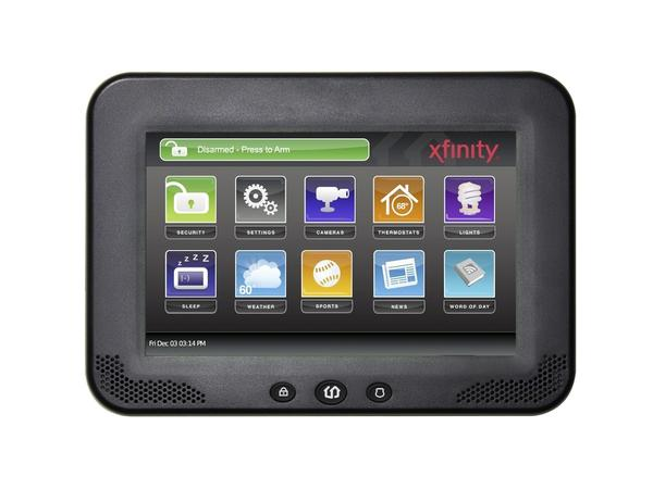 Comcast Xfinity Home's offering includes this touchpad control center for home security and other control automation.