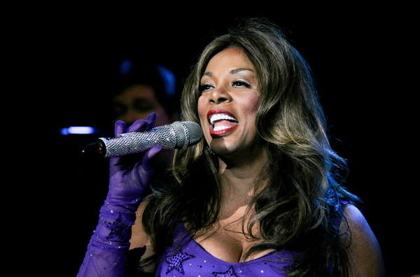 Singer Donna Summer performs on stage at Club Revolution in Florida on  Aug. 18, 2010.