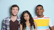 "It's the <a href=""http://tvlistings.zap2it.com/tv/american-idol/EP00552080"">""American Idol""</a> Top 3 - Joshua Ledet, Phillip Phillips and Jessica Sanchez. When they are introduced, Jessica is rocking a purple ball gown like Miss America Barbie. So pretty! And Josh looks sharp as always. Phillip, whose style is fine, that's who he is - kind of looks like a hobo by comparison."