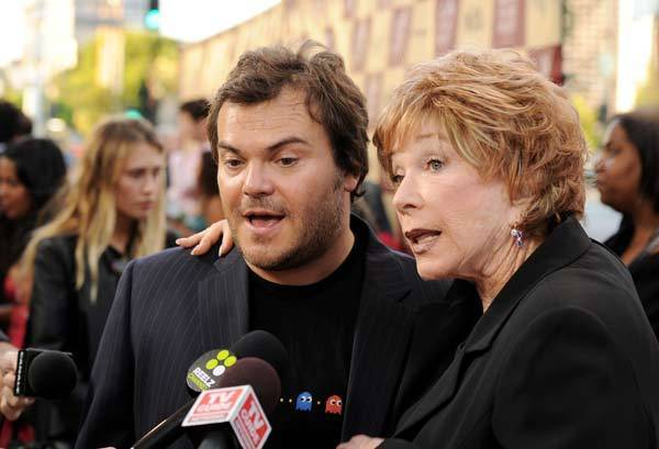 Shirley MacLaine and Jack Black arrive at Film Independent's Los Angeles Film Festival opening night premiere of 'Bernie' at the L.A. Live Regal Cinemas on June 16, 2011 in Los Angeles, Calif.
