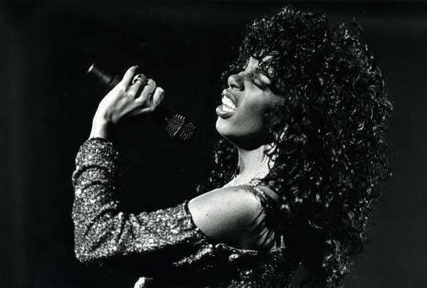 Donna Summer performing at the Universal Amphitheater in Los Angeles in 1983. The singer died Thursday, reportedly of lung cancer.