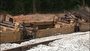Rail investigators are still trying to figure out what caused a train to go off the tracks in Appomattox County.