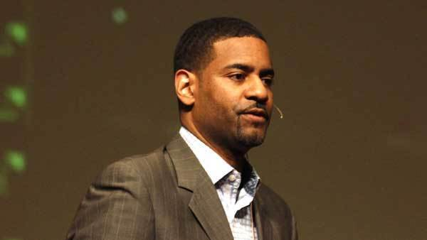 Pastor Otis Moss III at Trinity United Church of Christ on April 4, 2012.
