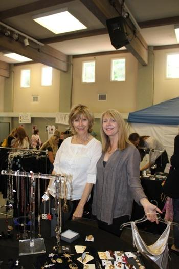 From left Evonne Kane, Boutique Benefit founder and event organizer, with longtime volunteer Kate Weiss.