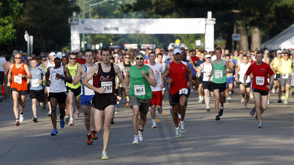 The start of the first ever Run for the Dream Half-Marathon in Williamsburg, Virginia on May 22, 2011.