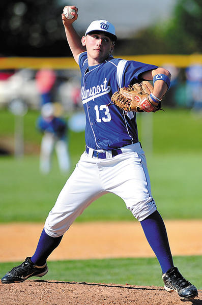 Williamsport's Ryan Boward delivers a pitch to South Carroll during his four innings of stellar relief on Thursday in the Wildcats' 5-3 victory.