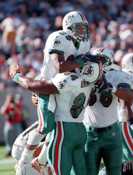He was the durable back for three years under Jimmy Johnson, rushing for 1,116 (the most gained by a Dolphins back during Dan Marino's 17-year career), 892 and 960 yards.