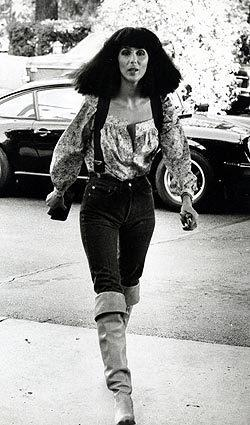 Cher visits for brunch in March 1977.