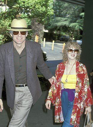 Steve Martin and Bernadette Peters in April 1979.