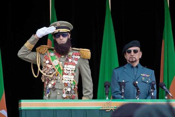 Sacha Baron Cohen (left) and Ben Kingsley in 'The Dictator.'