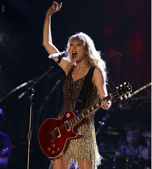 """Tattoos on This Town,"" Jason Aldean <br> ""Crazy Girl,"" Eli Young Band <br> ""Storm Warning,"" Hunter Hayes <br> ""God Gave Me You,"" Blake Shelton <br> ""Sparks Fly,"" Taylor Swift (pictured)"