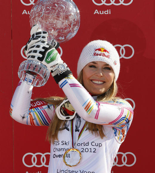 Teen Choice Awards 2012 Nominees: Choice Female Athlete Kelly Clark (Snowboarding)  Maria Sharapova (Tennis)  Hope Solo (Soccer)  Lindsey Vonn (Skiing) (pictured)  Serena Williams (Tennis)