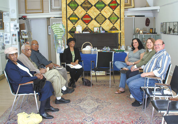 A storytelling session recently was held at the Contemporary School of the Arts and Gallery Inc. in Hagerstown. Faith Crumbly, center, led the program. Others on hand included, from left, Sadie Ashley, Conrad Ashley, Vernon Cartwright, Colleen Steward, Patricia McCullum and Steve McCullum.
