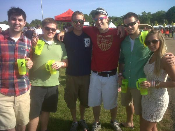 A group of 20 friends came down from Hershey, Pa. to party on the Preakness infield.