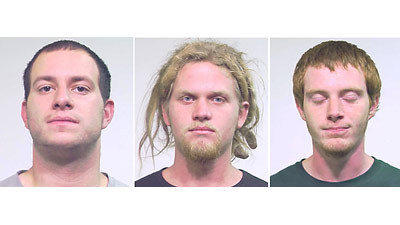Cops charge three activists in a terrorism plot - Jared Chase, Brent Betterly, Brian Church