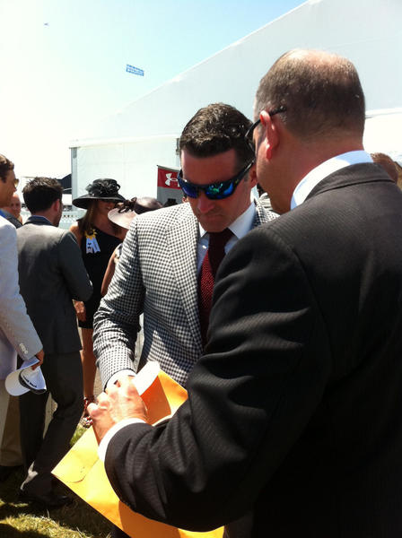 Under Armour Inc. founder Kevin Plank at Preakness 2012.