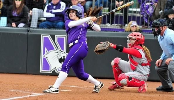 Northwestern slugger Marisa Bast.