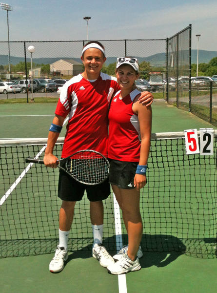 North Hagerstown's Max Ober and Mollie Johnson won the mixed doubles title at the Maryland Region I TenniS Championships on Saturday at Middletown High School.