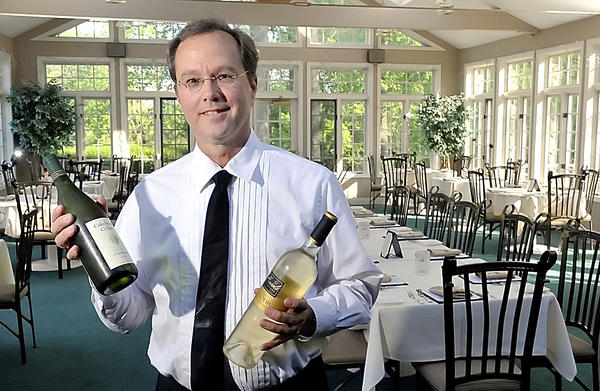 Bruce Massey has been a server at the Old South Mountain Inn in Boonsboro more than 30 years.
