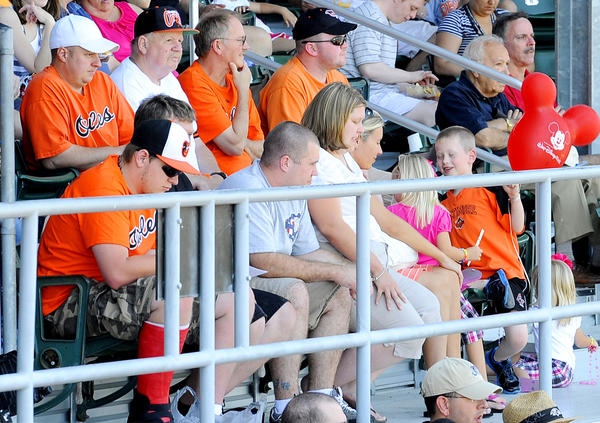 Baltimore Orioles fans turned out at Municipal Stadium in Hagerstown Sunday to see Delmarva Shorebird Dylan Bundy, an Orioles pitching prospect, throw against the Hagerstown Suns.